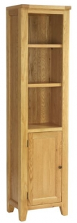Vancouver Petite Oak Display Unit - 1 Door 2 Shelves