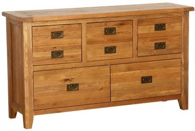 Vancouver Petite Oak Dresser Chest - 5 Drawer