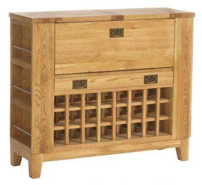 Vancouver Petite Oak Drinks Cabinet - Compact