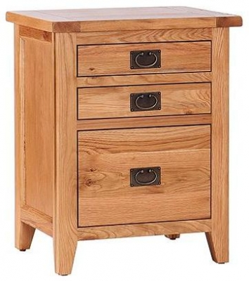Vancouver Petite Oak Filing Cabinet - 2 Drawer For NB034 Desk