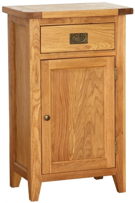 Vancouver Petite Oak Hall Cabinet - Tall with 1 Drawer