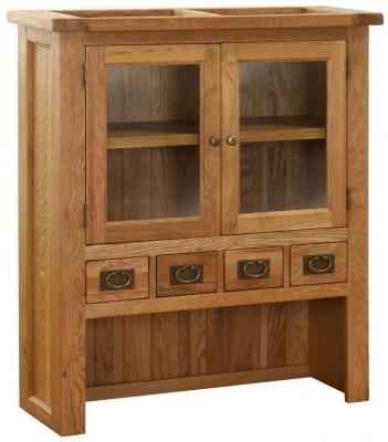 Vancouver Petite Oak Hutch - 2 Door 4 Drawer