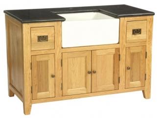 Vancouver Petite Oak Kitchen Sink Unit