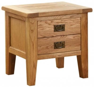 Vancouver Petite Oak Lamp Table - 1 Drawer