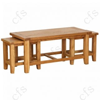 Vancouver Petite Oak Nest of 3 Coffee Tables