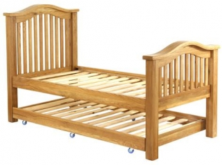Vancouver Petite Oak Pull Out Bed - 3ft Single Slatted
