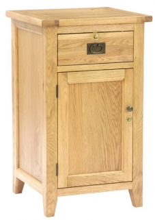Vancouver Petite Oak Sales Desk - 1 Door 1 Drawer without Top Shelf