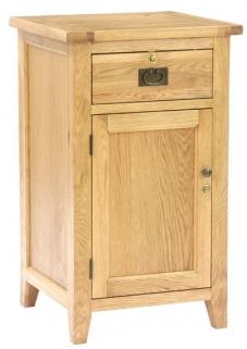 Vancouver Petite Oak Sales Desk - 1 Door 1 Drawer without Top Shelf