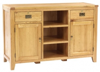 Vancouver Petite Oak Sales Desk - 2 Door 2 Dawer Large without Top Shelf