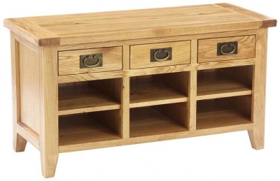 Vancouver Petite Oak Shoe Organiser for Bigger Shoes