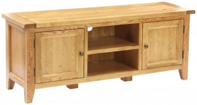 Vancouver Petite Oak TV Unit - 2 Door 1 Shelf