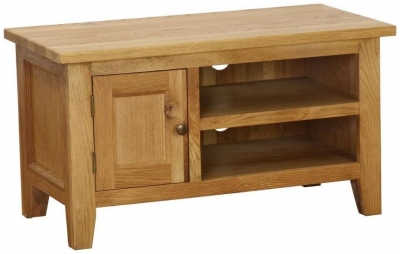 Vancouver Petite Oak TV Unit Small 1 Door 1 Shelf