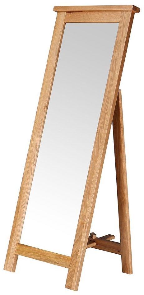 Vancouver Petite Oak Free Rectangular Mirror