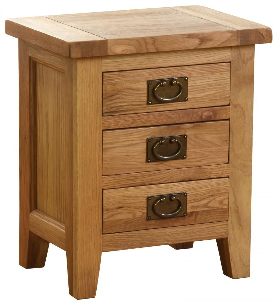 Vancouver Petite Oak Bedside Cabinet - 3 Drawer