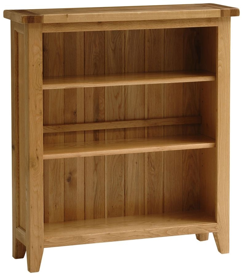 Vancouver Petite Oak Bookcase with 3 Adjustable Shelves