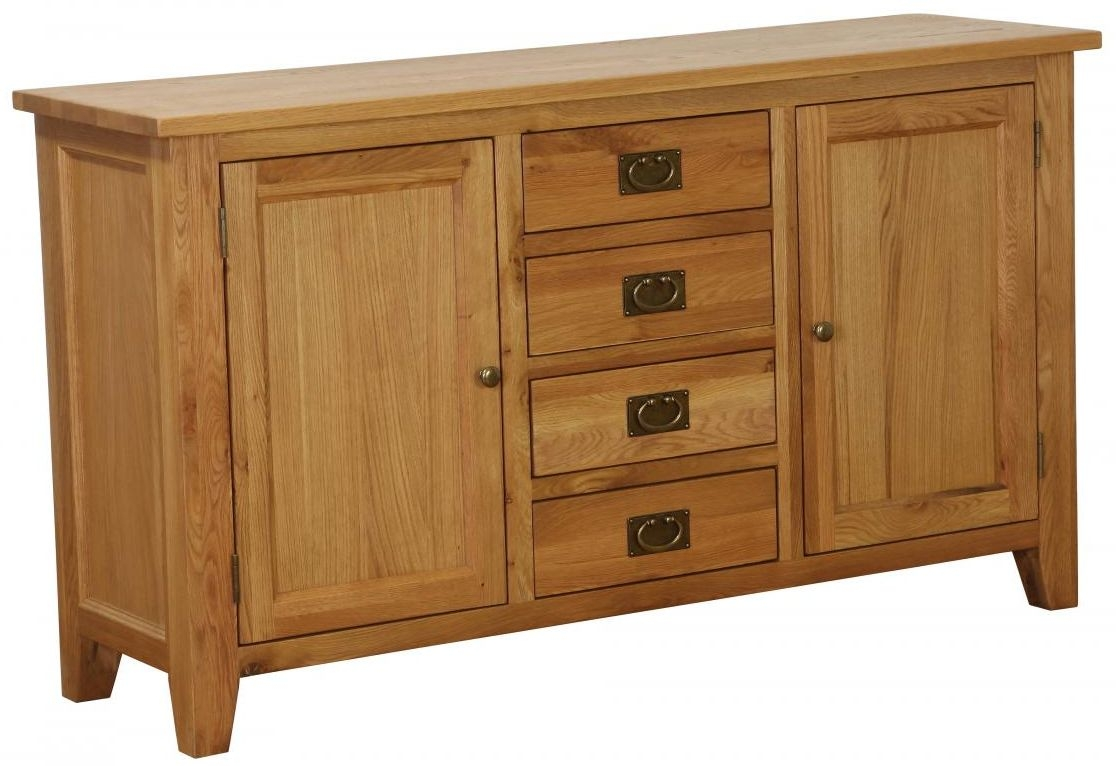 Vancouver Petite Oak Buffet - Large 2 Door 4 Drawer