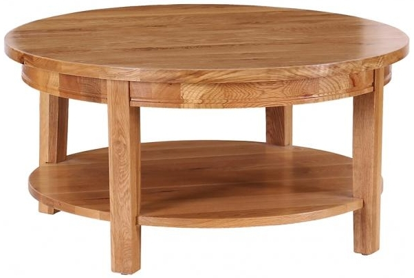 Vancouver Petite Oak Coffee Table - Round