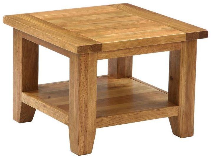 Vancouver Petite Oak Coffee Table Square Besp Oak