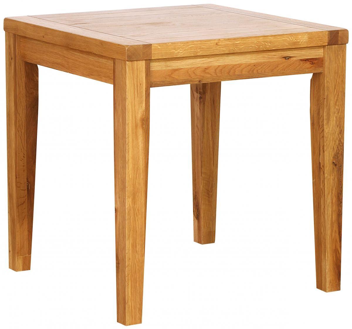 Vancouver Petite Oak Square Dining Table 75cm
