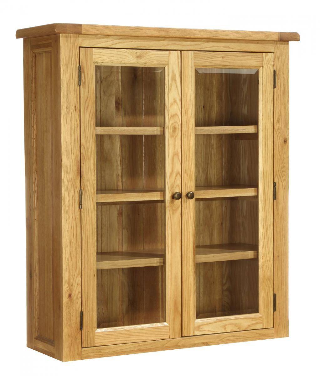 Vancouver Petite Oak Glazed Hutch - 2 Door