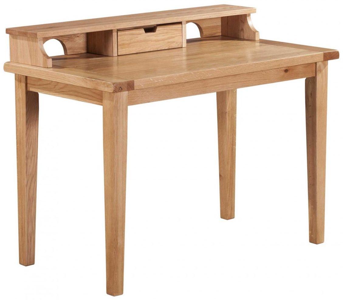 Vancouver Petite Oak Ipad Desk - 1 Drawer