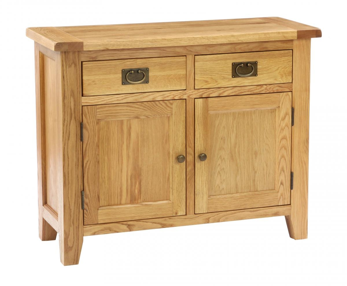 Vancouver Petite Oak Kitchen Unit - 2 Door 2 Drawer with Timber Top