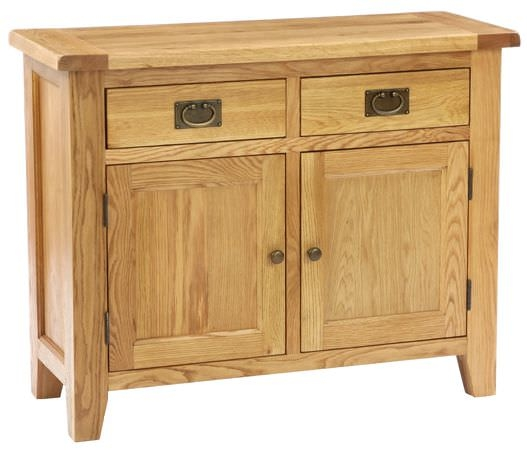 Vancouver Petite Oak Kitchen Unit - 2 Doors 2 Drawers with Timber Top