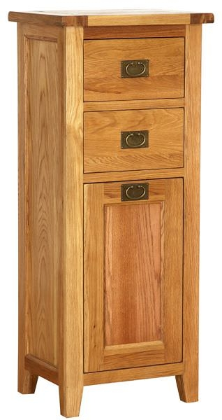 Vancouver Petite Oak Laundry Chest with 2 Drawers