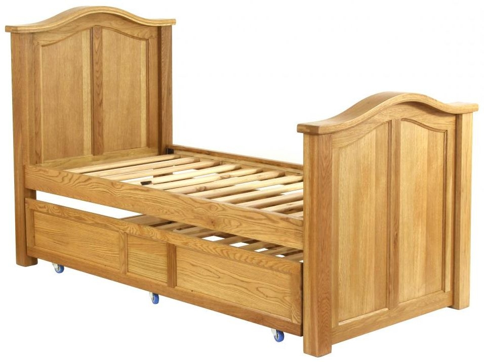Vancouver Petite Oak Pull Out Bed - 3ft Single Panel