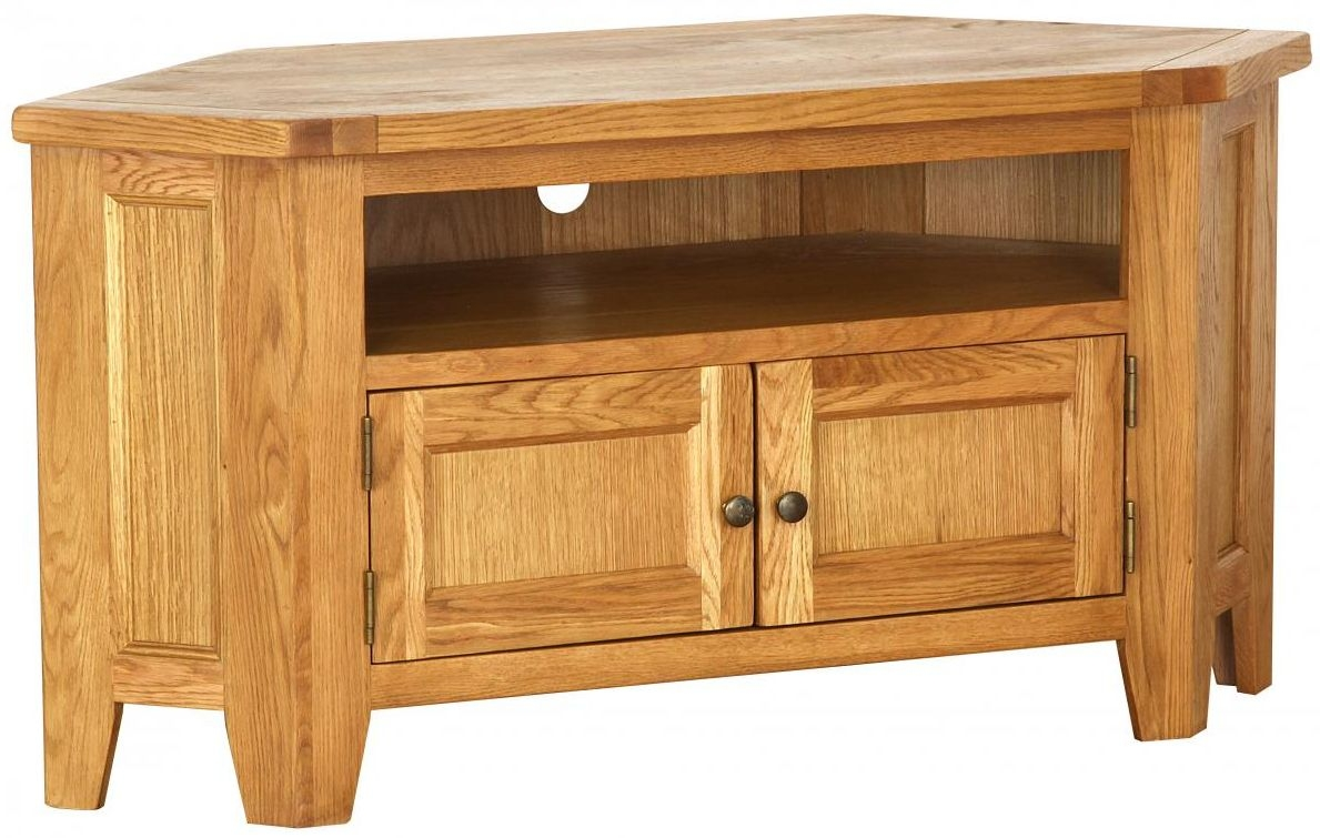 buy vancouver petite oak tv unit large corner online cfs uk. Black Bedroom Furniture Sets. Home Design Ideas