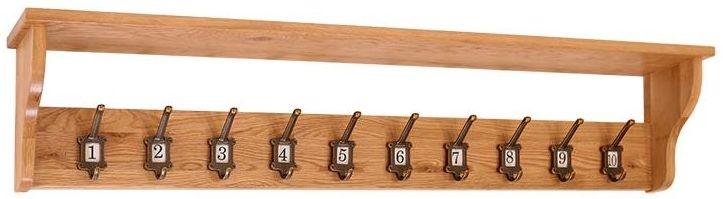 Vancouver Petite Oak 10 Hooks School Coat Rack