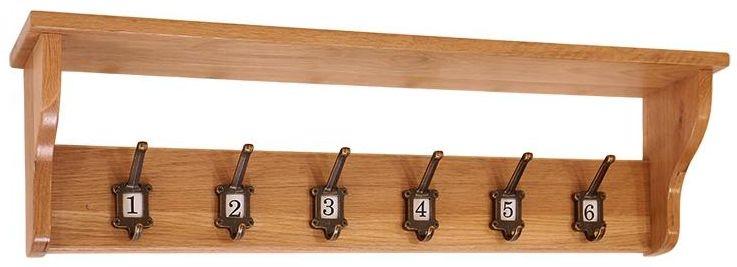 Vancouver Petite Oak 6 Hooks School Coat Rack