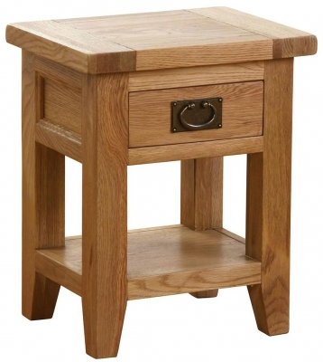 Vancouver Petite VSP Oak Bedside Table - 1 Drawer 1 Shelf