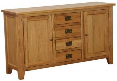 Vancouver Petite VSP Oak Sideboard - Medium 2 Door 4 Drawer