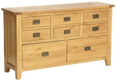 Vancouver Petite VSP Oak Chest of Drawer - 8 Drawer