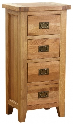 Vancouver Petite VSP Oak Chest of Drawer - Tall 4 Drawer