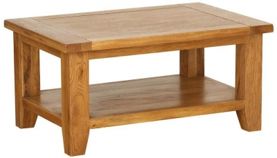 Vancouver Petite VSP Oak Rectangular Coffee Table