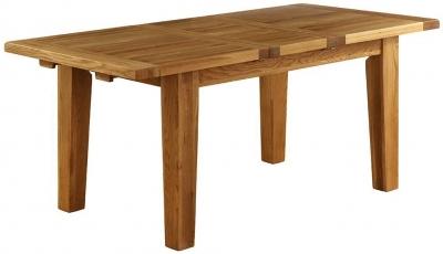 Vancouver Petite VSP Oak Dining Table - Extending 140cm-180cm