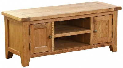 Vancouver Petite VSP Oak TV Unit - 2 Door 1 Shelf