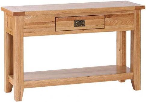 Vancouver Petite VSP Oak 1 Drawer Large Console Table