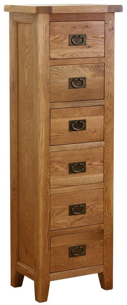 Vancouver Petite VSP Oak Chest of Drawer - Tall 6 Drawer