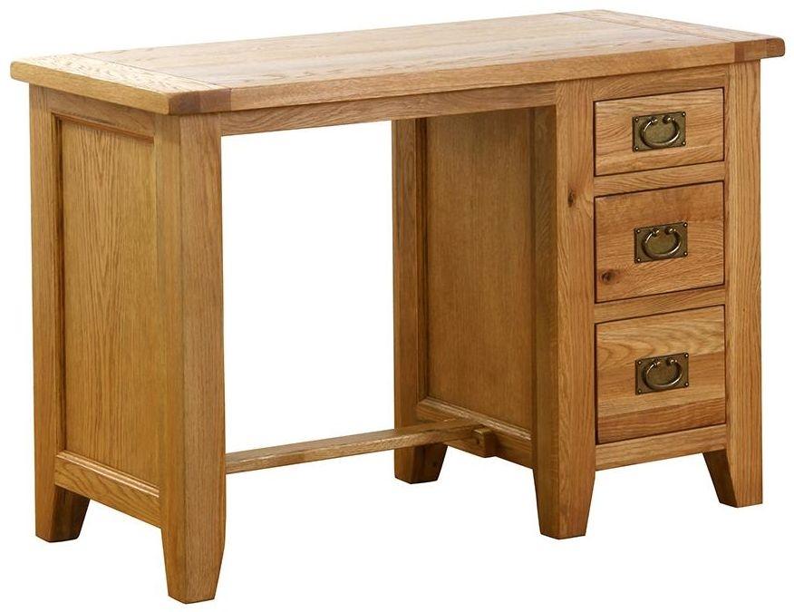 Vancouver Petite VSP Oak Desk - 3 Drawer