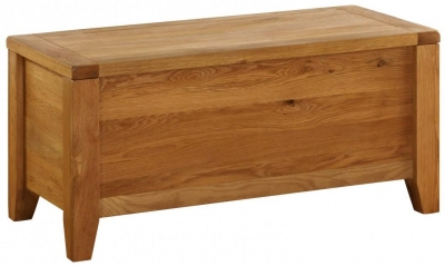 Vancouver Premium Solid Oak Blanket Chest