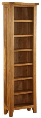 Vancouver Premium Solid Oak CD and DVD Storage Bookcase