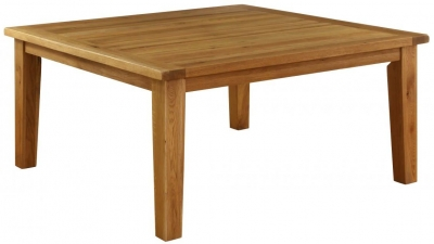 Vancouver Premium Oak Dining Table - Square Fixed Top 160cm