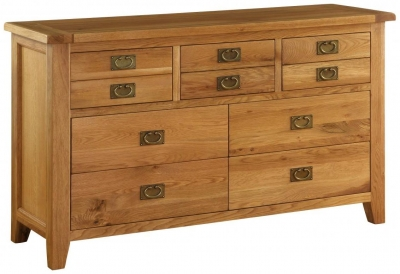 Vancouver Premium Solid Oak 7 Drawer Dresser Chest