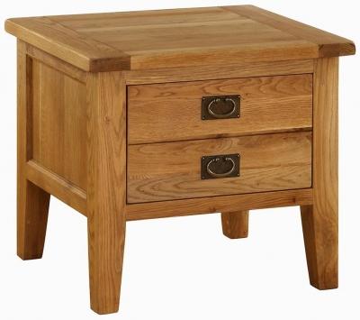 Vancouver Premium Oak Lamp Table - 1 Drawer