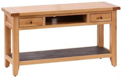 Vancouver Premium Oak Log Storage TV Unit
