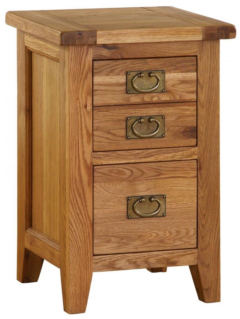 Vancouver Premium Oak Bedside Cabinet - 2 Drawer