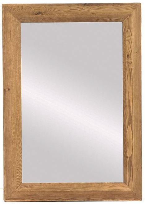 Vancouver Premium Solid Oak Rectangular Large Bevelled Mirror